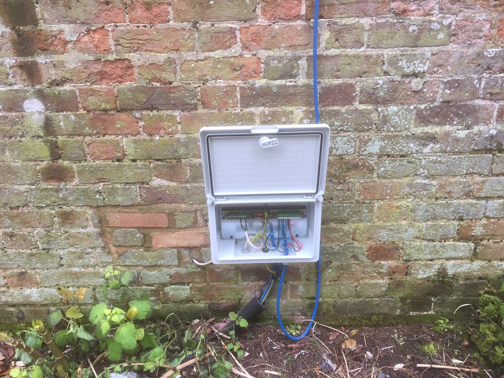 Control system checks for irrigation system servicing